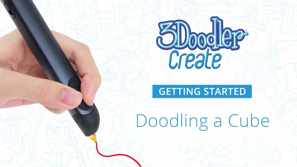 Doodling a Cube with the 3Doodler Create