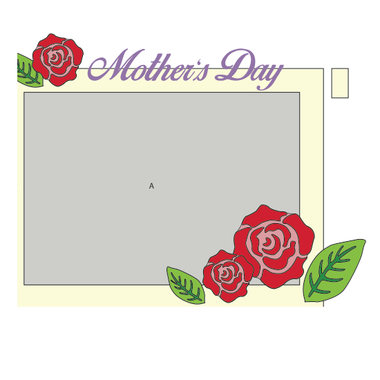 Mothers Day Frame with Rose Cover