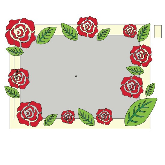 Frame with Rose Cover
