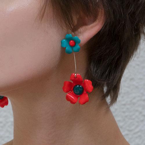 Bold Floral Drop Earrings