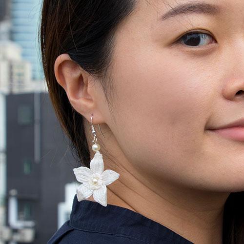 Petite Pearl Floral Earrings