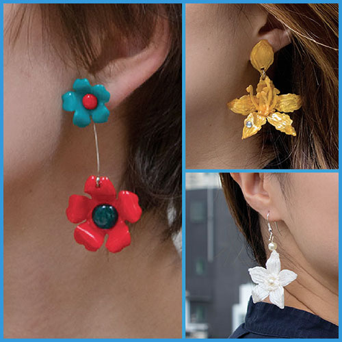 Floral Earrings Stencil