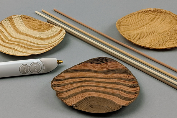 Draw in Wood with the Create+ 3D Printing Pen!