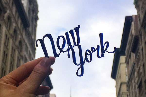 Application of 3D typography