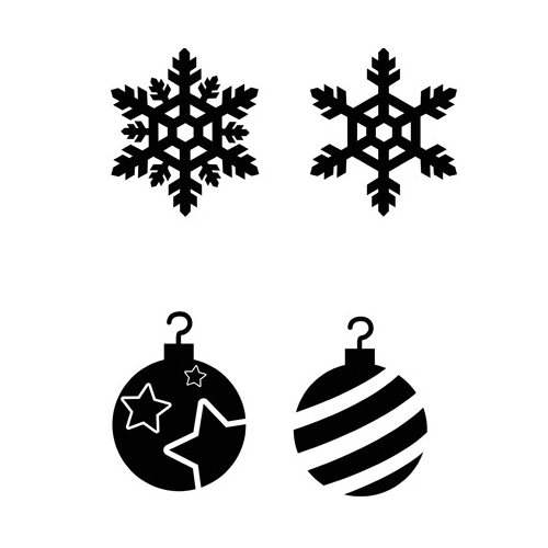 Christmas Tree Stencils: 3D Pen Creation Library