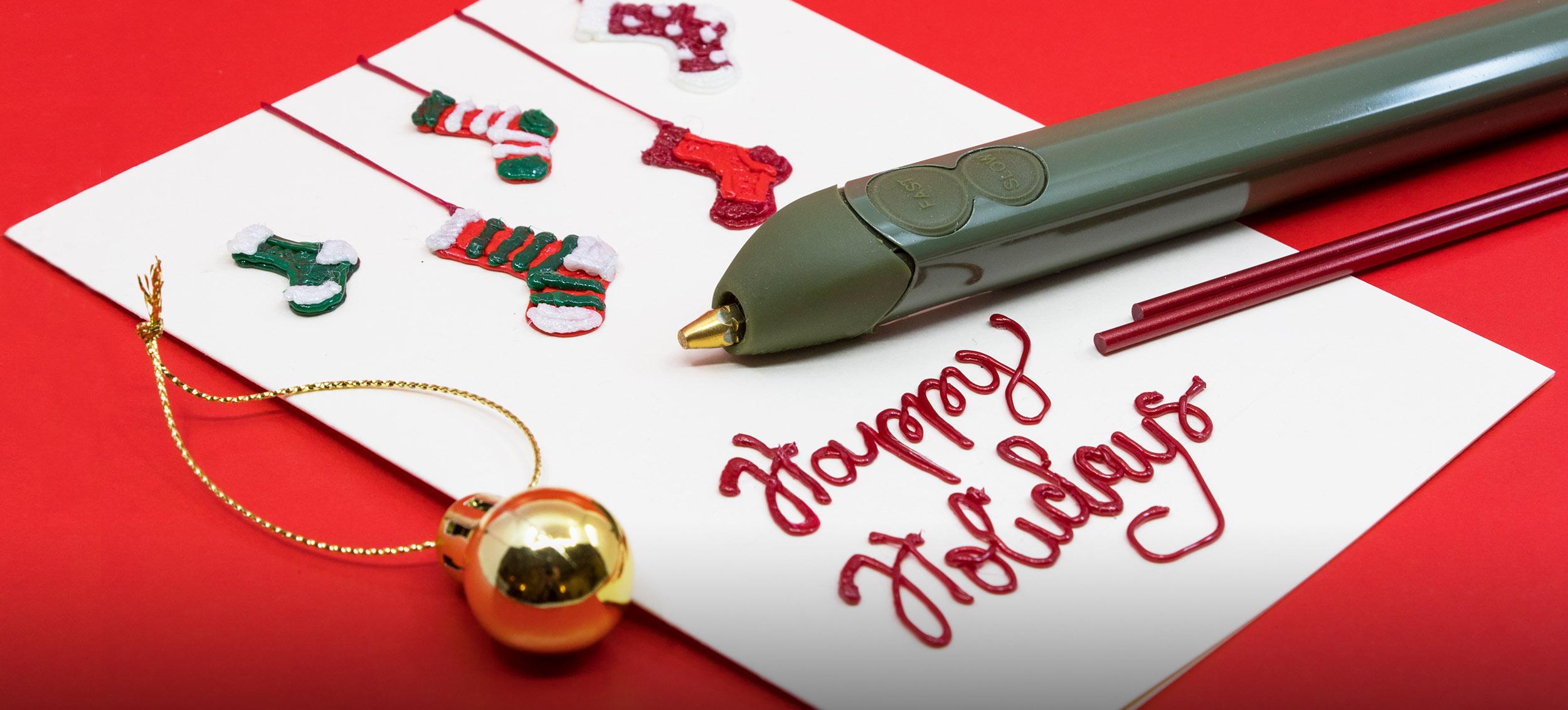 Handmade Christmas Cards Decor Ideas Made With A 3d Pen 3doodler