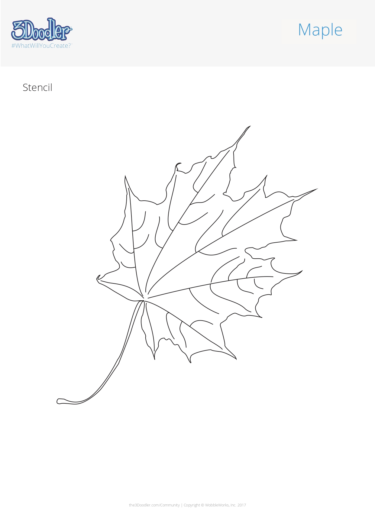 3D Pen Stencil Template Autumn Leaves