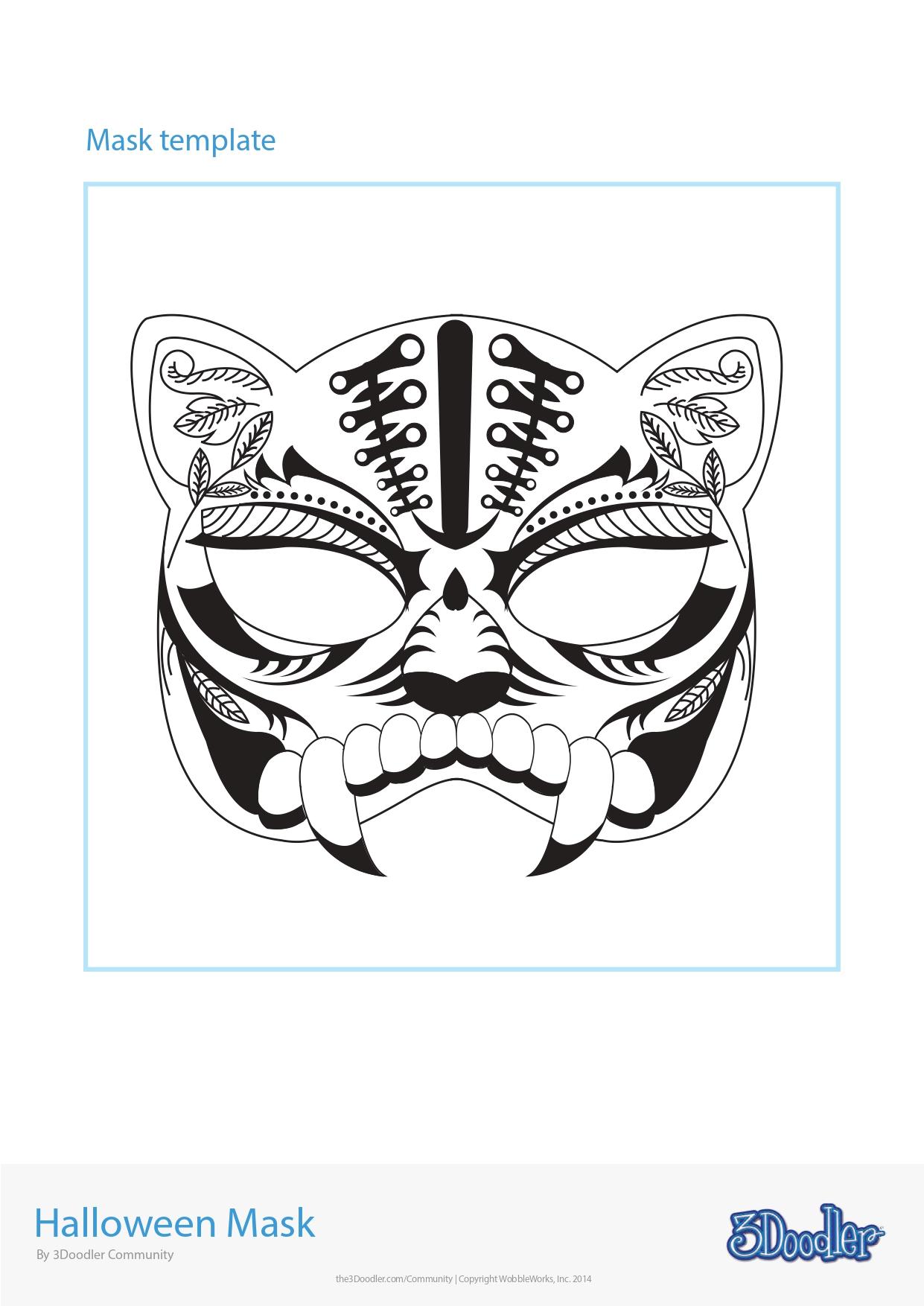 3D Pen Stencil Template Halloween Mask 1