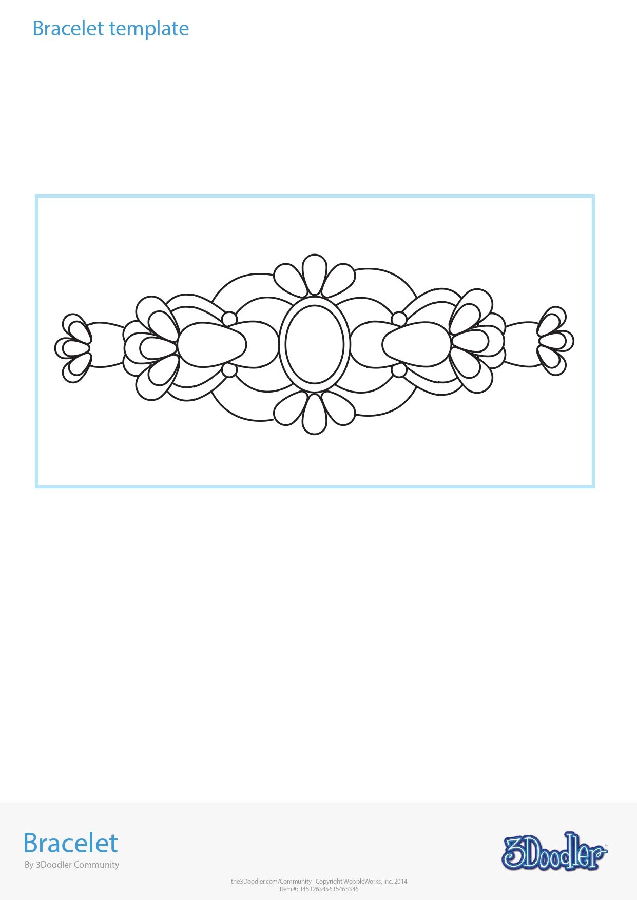 3D Pen Stencil Template Bracelet 2