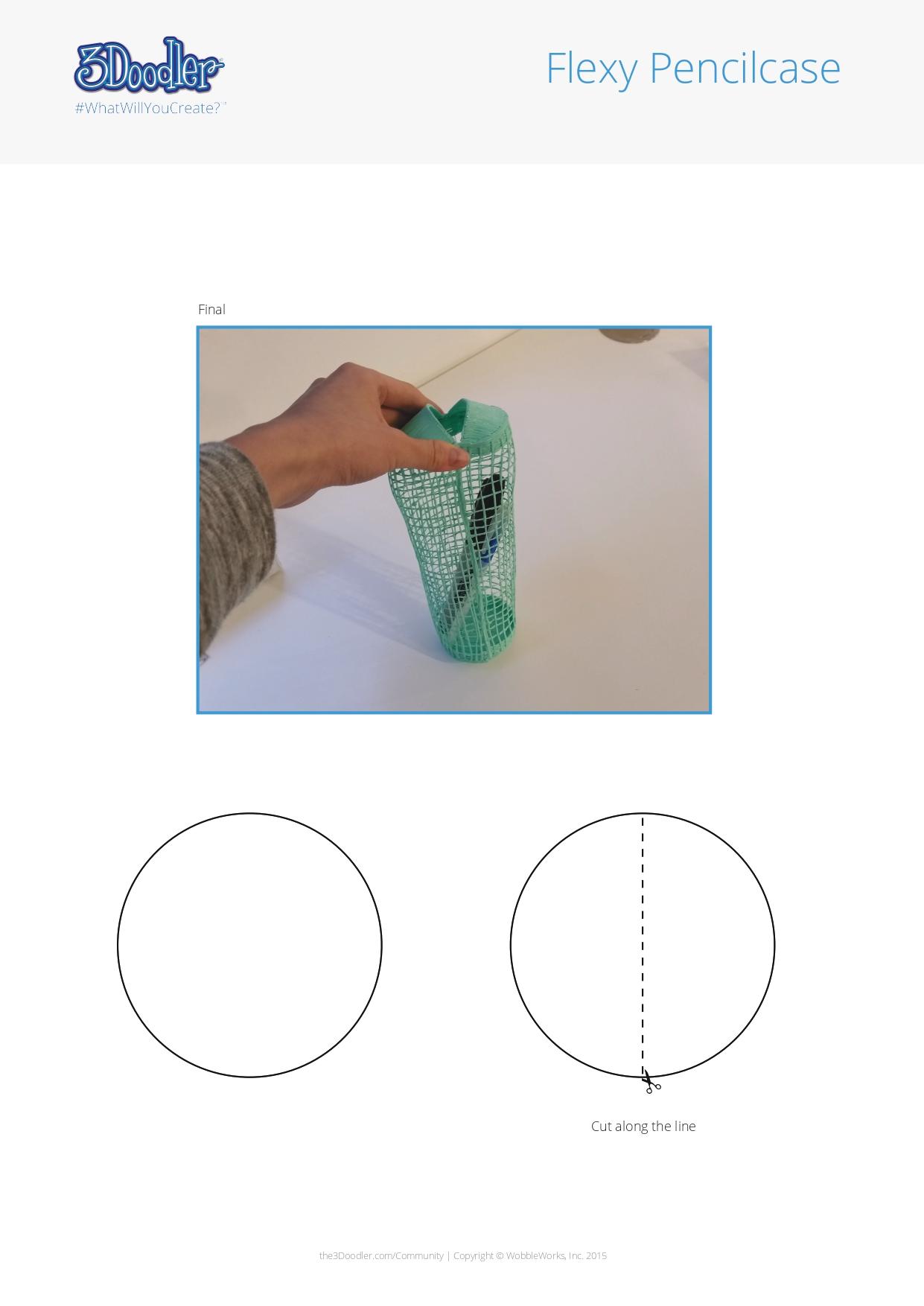 3D Pen Stencil Template FLEXY Pencil Case
