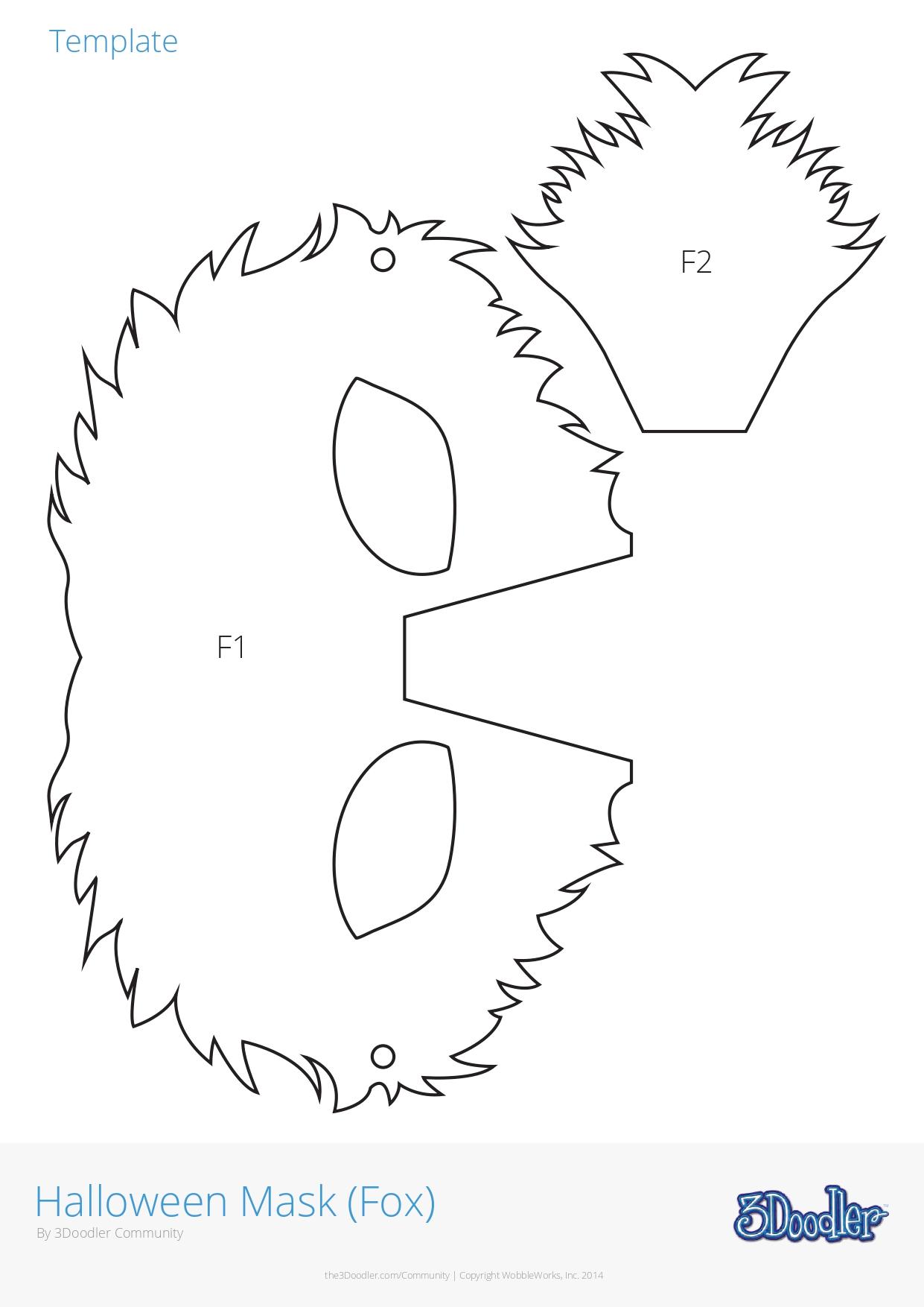 3D Pen Stencil Template Snow Wolf