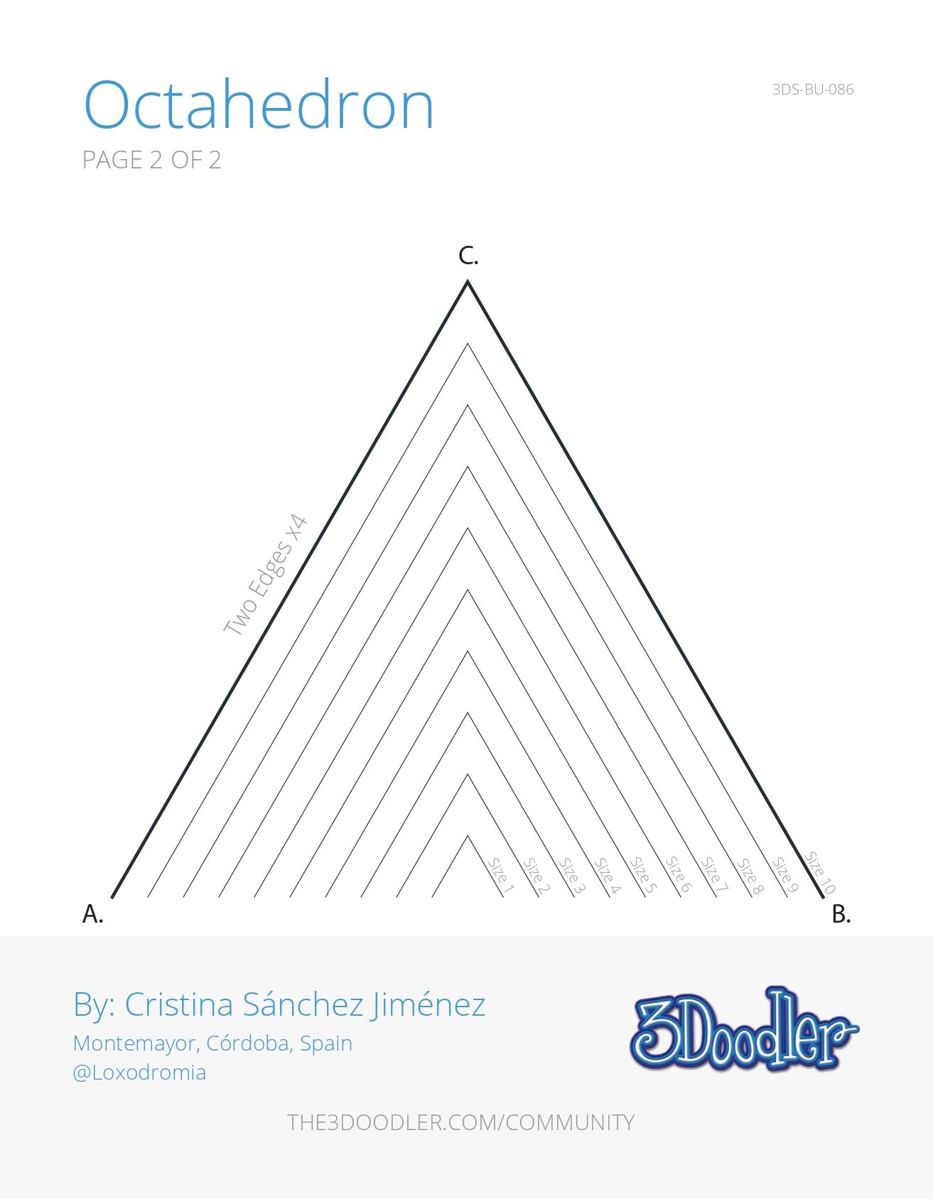 3D Pen Stencil Template Octahedron