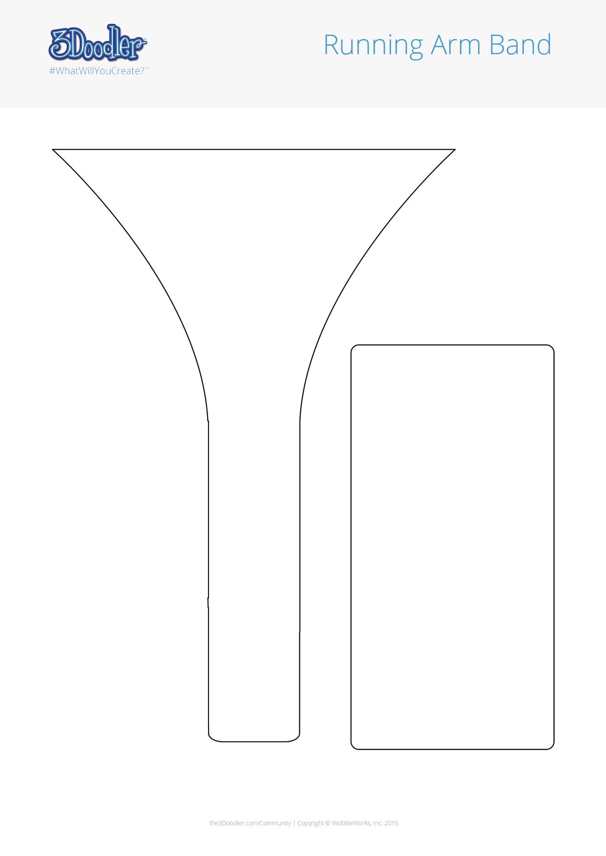3D Pen Stencil Template Running Arm Band