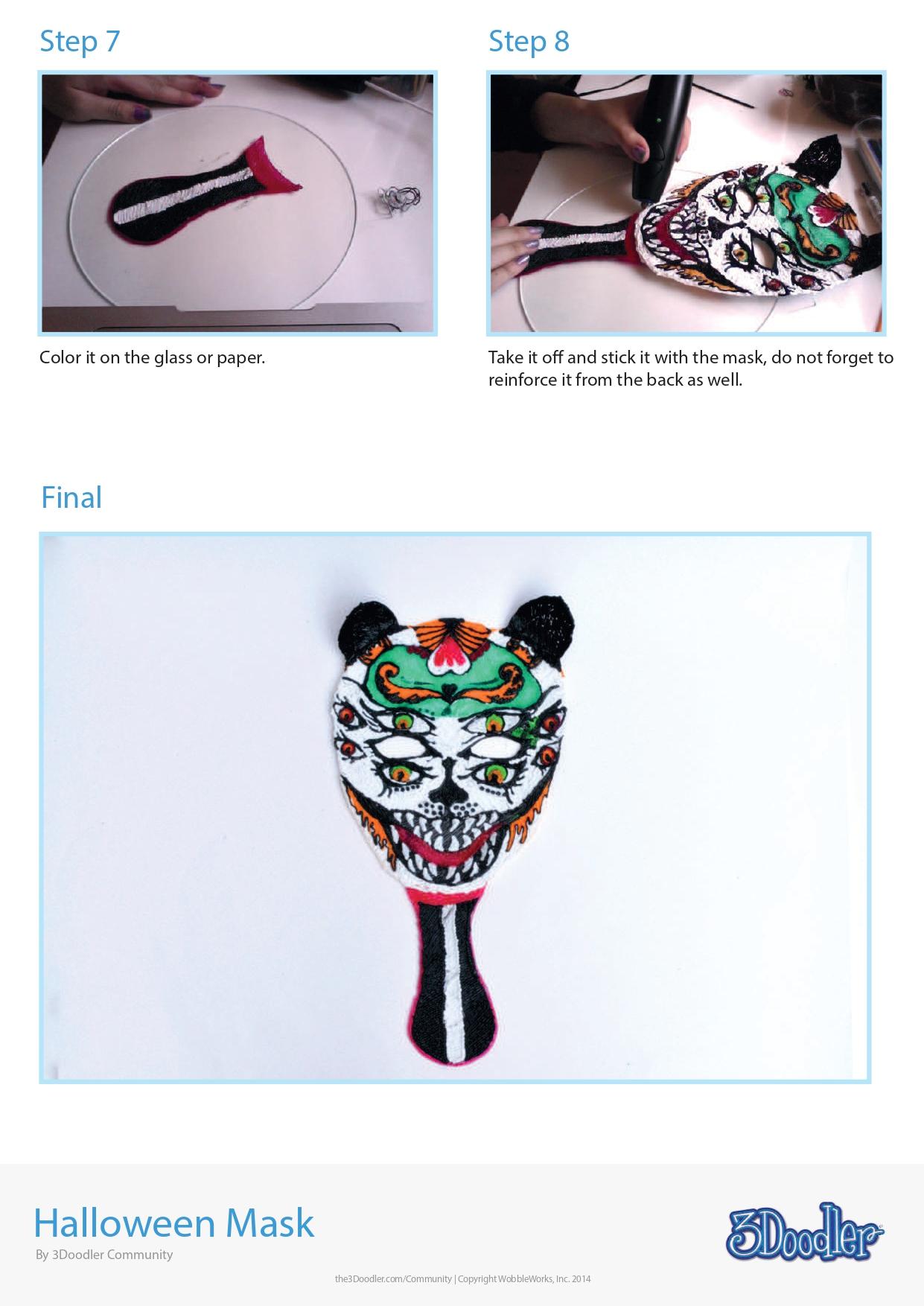 3D Pen Stencil Template Halloween Mask 2