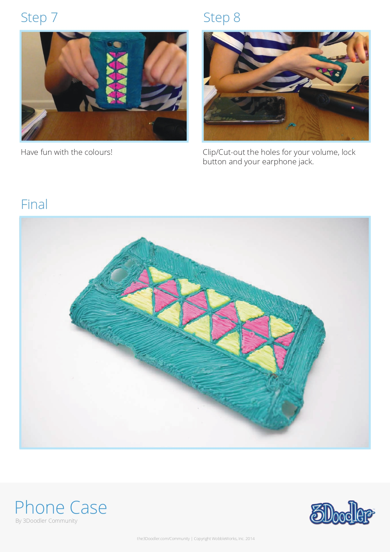 3D Pen Stencil Template Phone Case