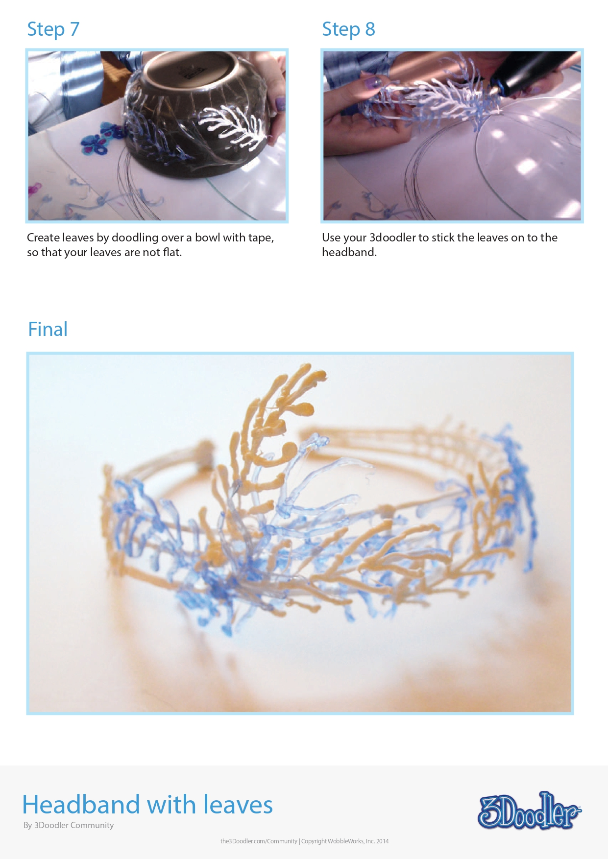 3D Pen Stencil Template Headband