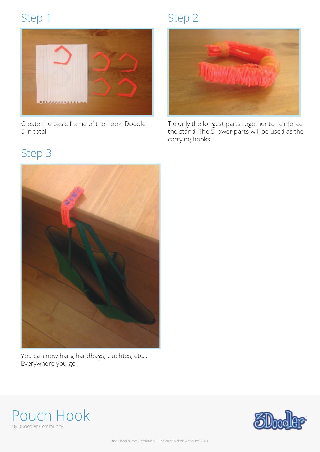 3D Pen Stencil Template Pouch Hook