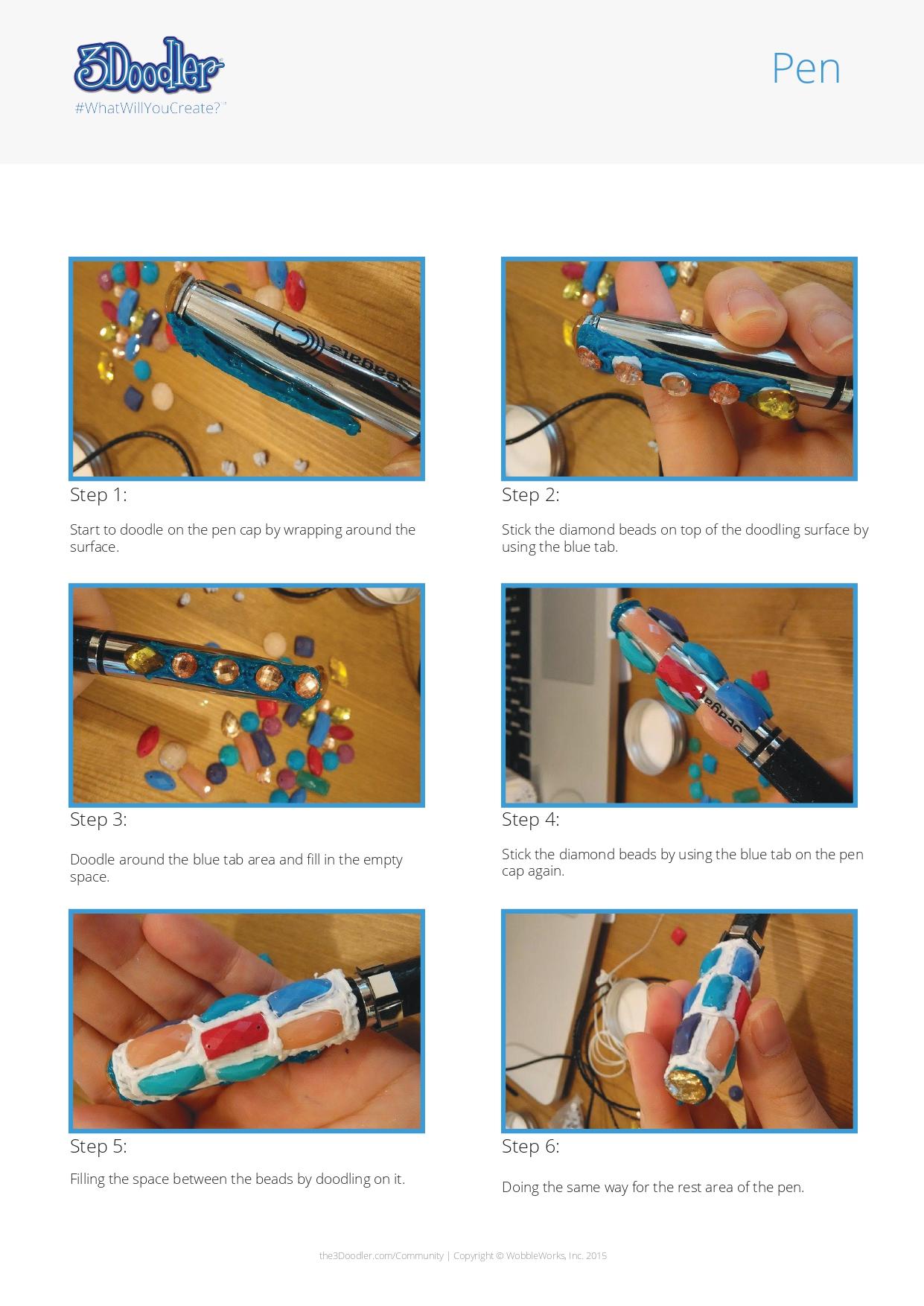 3D Pen Stencil Template Pen