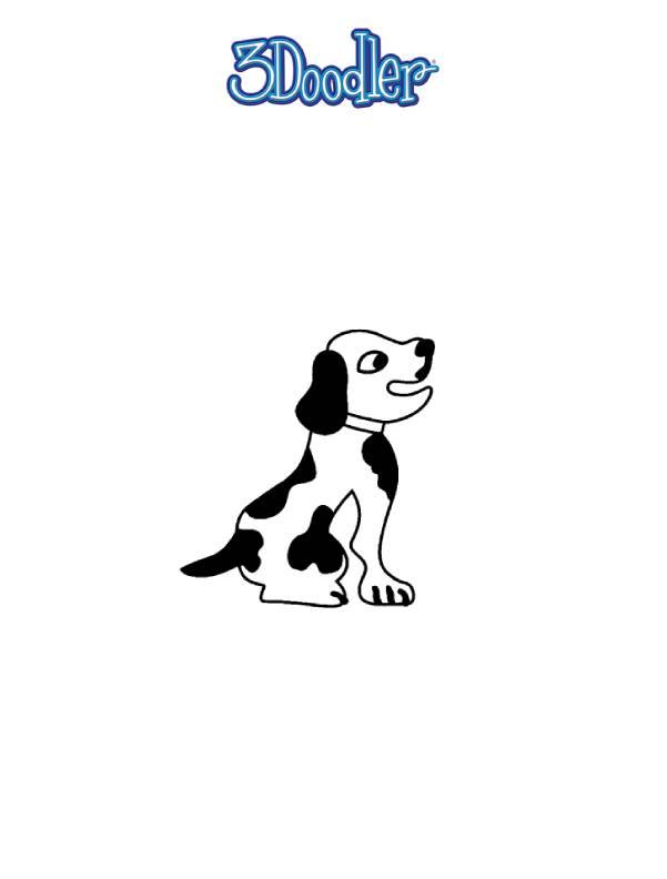 3D Pen Stencil Template Puppy Earphones Wrap