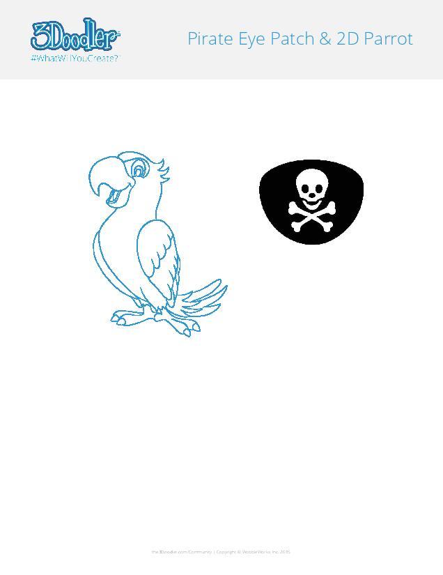 3D Pen Stencil Template Play Pirate